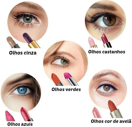 Que batom combina com a cor dos olhos?