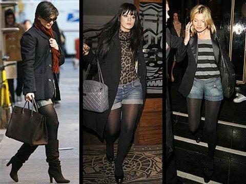 Como usar calções no inverno