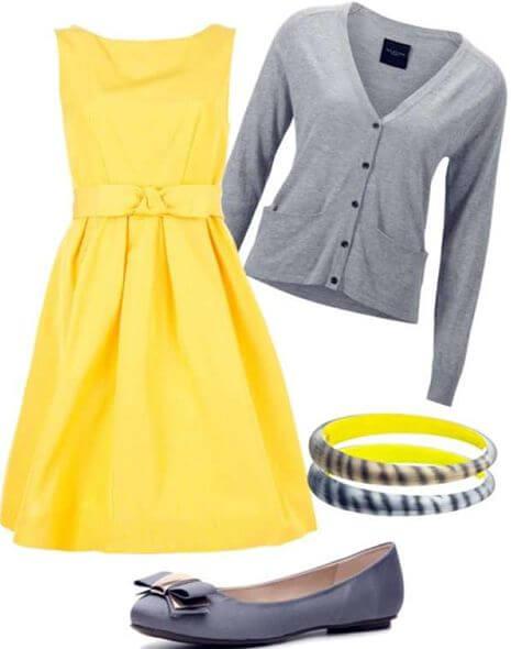 Que cores combinam com o amarelo roupa