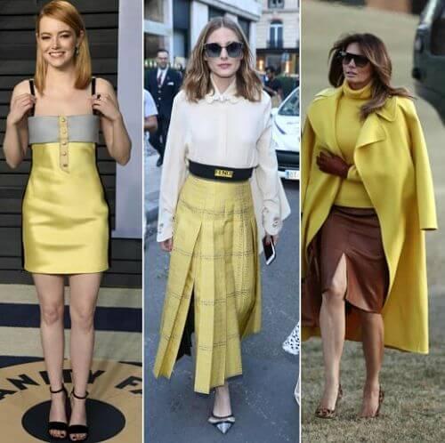 cores que combinam com o amarelo roupa